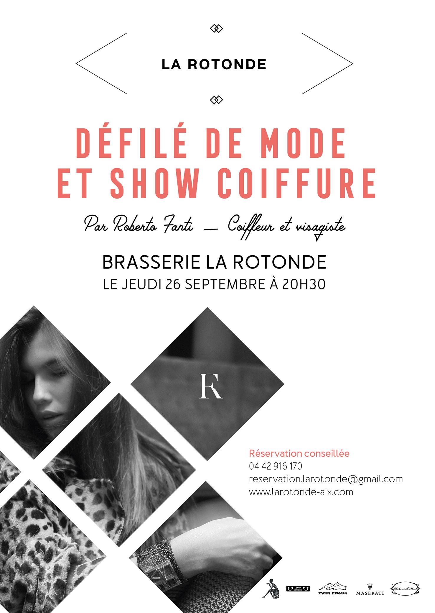 Défilé de Mode et Show Coiffure – Jeudi 26 septembre