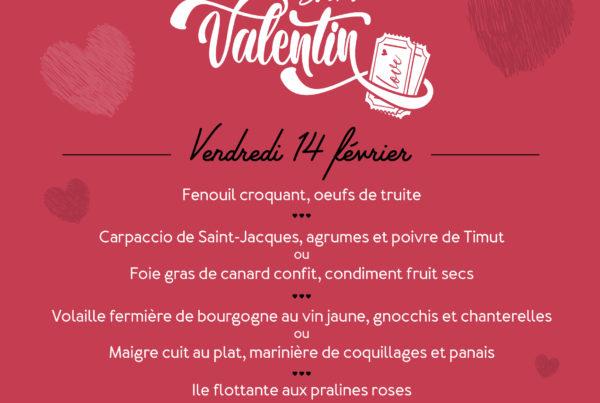 La Rotonde - St Valentin - Menu - Aix-en-provence